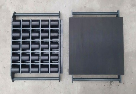 Stalmechon Wózek stały do transportu maszyn, urządzeń i sprzętu (rolki: 25x poliamid, nośność: 27,5 ton) 50276373
