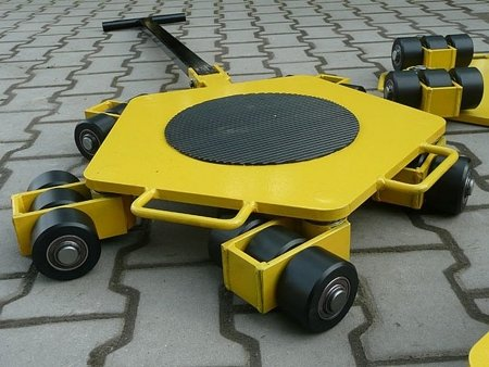 Wózek rotacyjny stały, rolki: 12x nylon (nośność: 4 T) 12258866