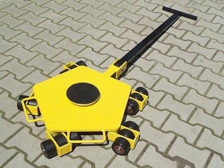 Wózek rotacyjny z płytą obrotową, rolki: 15x nylon (nośność: 5 T) 12258871