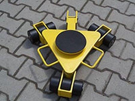 Wózek rotacyjny z płytą obrotową, rolki: 3x nylon (nośność: 2 T) 12258868