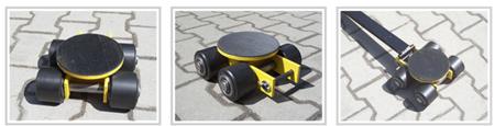 Wózek skrętny 4 rolkowy, rolki: 4x stal (nośność: 4 T) 12235601
