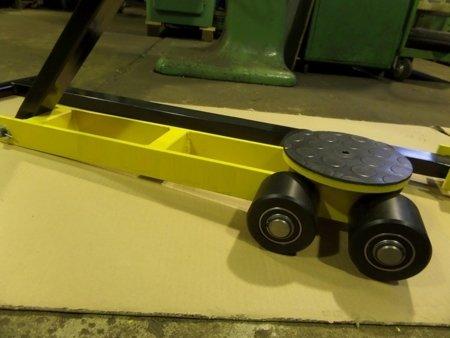 Wózek skrętny przedłużony, 4 rolkowy, rolki: 4x kompozyt (nośność: 4 T) 12267426