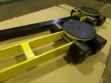 Wózek skrętny przedłużony, 4 rolkowy, rolki: 4x nylon (nośność: 4 T) 12267425