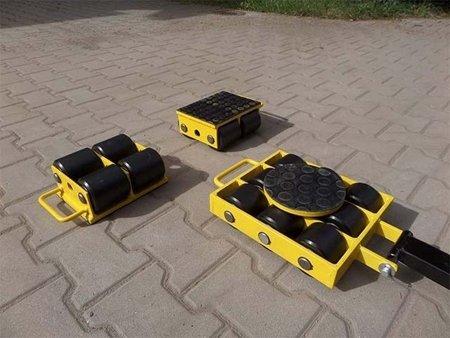 Zestaw wózków, rolki: 16x kompozyt (nośność: 24 T) 12267446