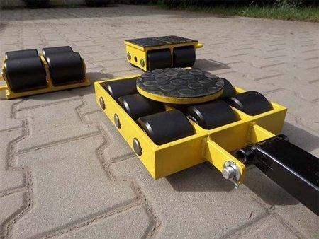 Zestaw wózków, rolki: 16x stal (nośność: 24 T) 12267447